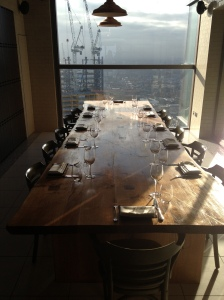 Duck & Waffle private dining room.