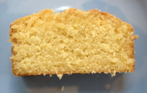 Slice of lemon drizzle loaf
