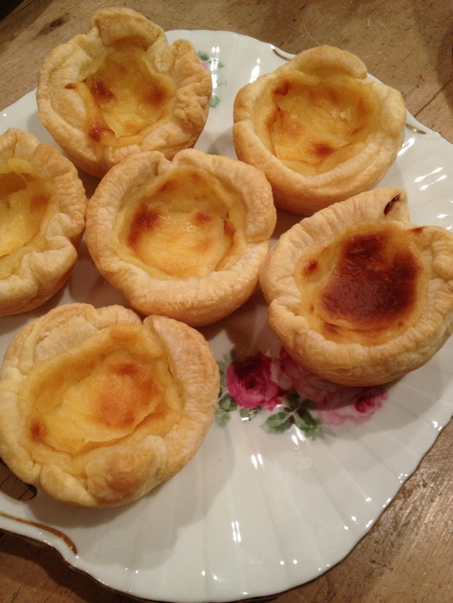 Portuguese style custard tarts