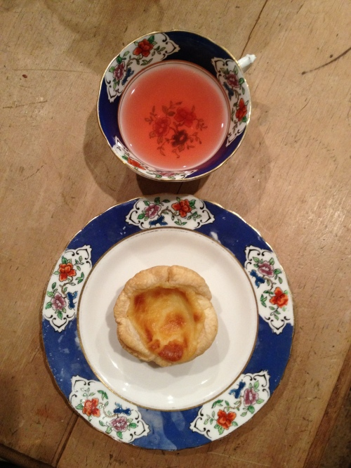 Custard tart matched with Kandula's Pink Ceylon