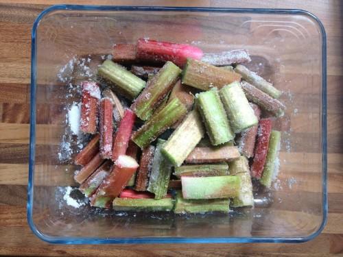Rhubarb ready for roasting