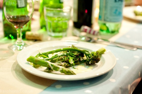 British asparagus & psb with homemade hollandaise