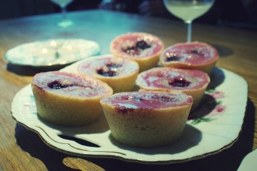 @daisyduked photo - Bramble friands with blackberry and gin glaze