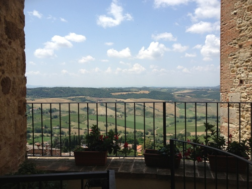The view from Osteria del Borgo