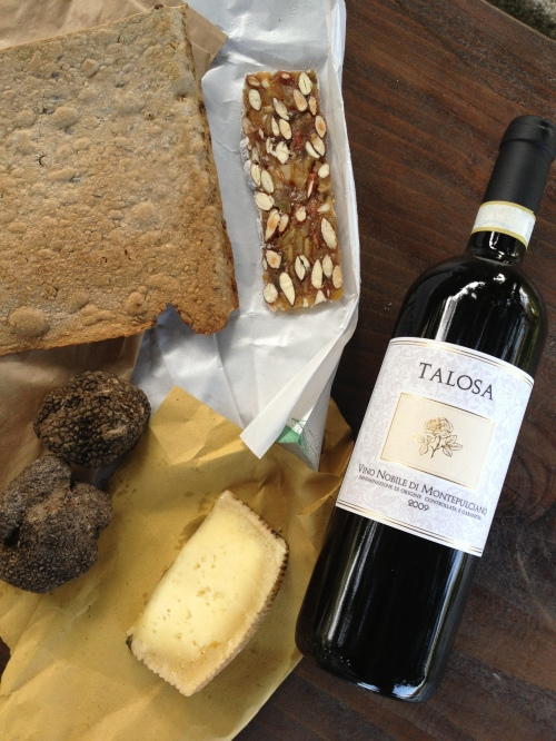 Goodies picked up in Montepulciano
