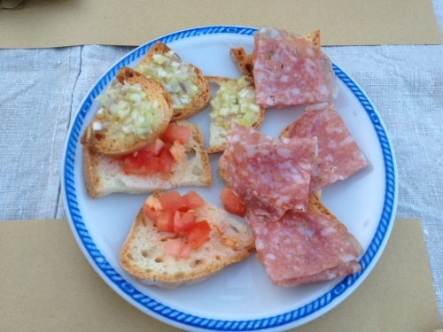 Crostini at Saltapicchio
