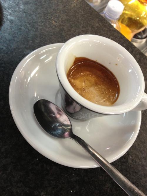 Espresso at Sant'Ambrogio market