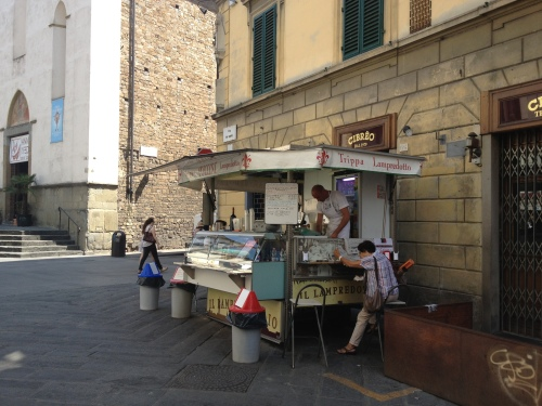 Lampredotto stall, Florence