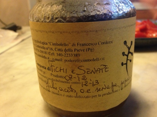 Homemade fig mustard from our agriturismo