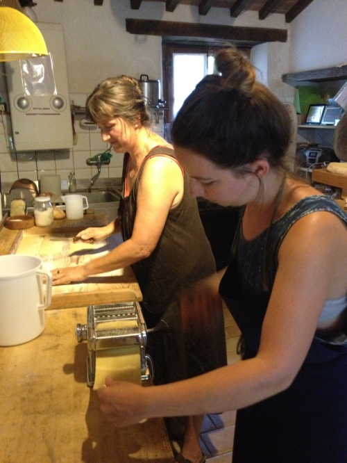 Ivana & Luisa making fettuccine