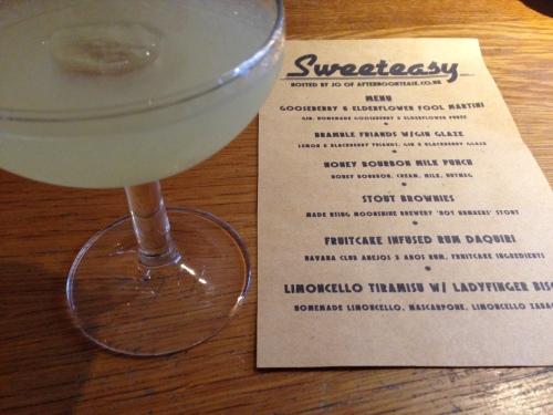 Gooseberry and elderflower fool martini
