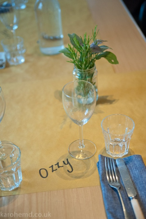 Tables set at Lynne Strover Gallery