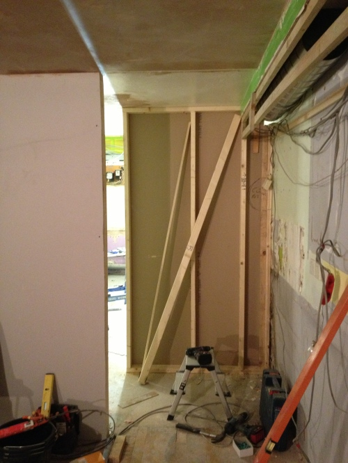 Internal wall to the kitchen