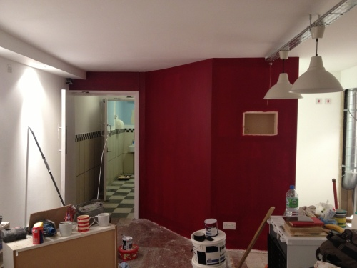 Feature wall 2nd coat