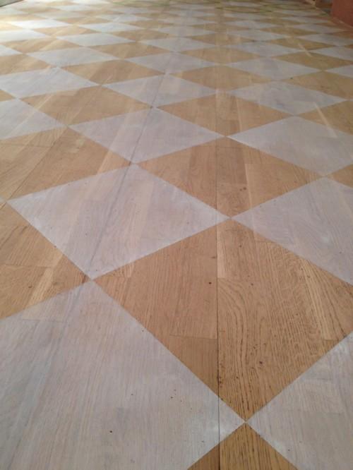 Flooring painted