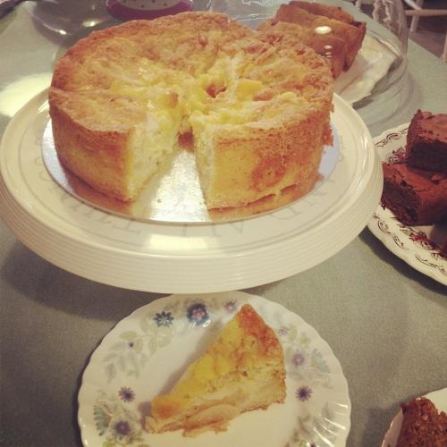 Pear and marzipan cake