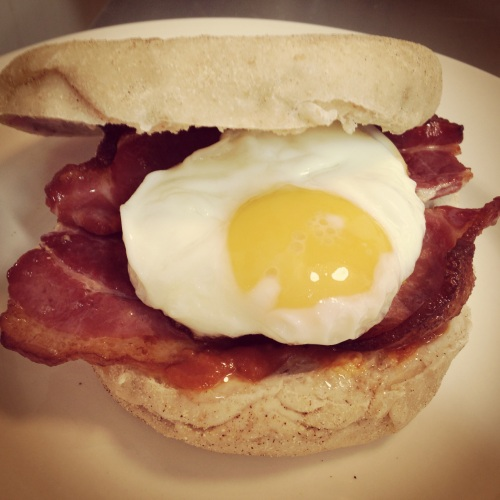 Egg & Bacon Stottie